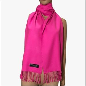 Hot Pink 100% Cashmere Scarf